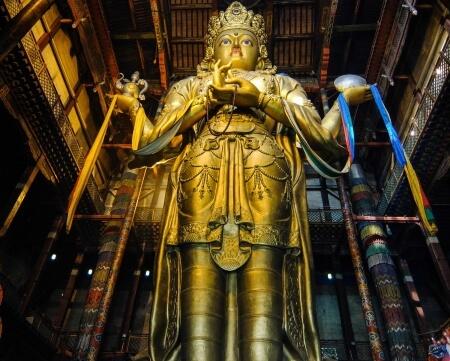 Image 5. Migjid Janraisig statue