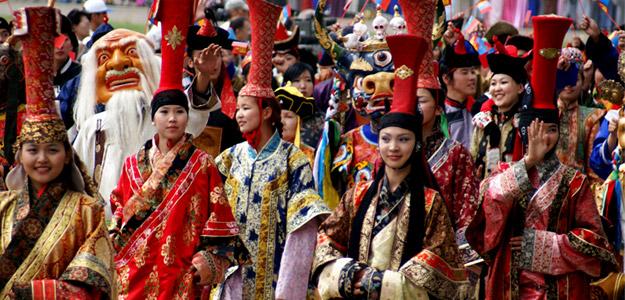 Mongolian deel in Naadam festival